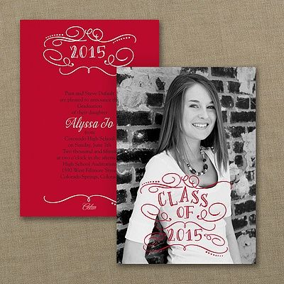 Whimsical Typography Photo Graduation Invitation 40 OFF http