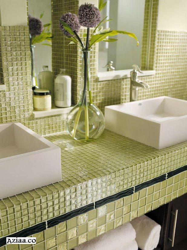 سيراميك حمامات جميل 2015 احدث سيراميك حمامات 2015 سيراميك حمامات بالصور 2015 سيراميك غرانيت رخام Glass Tile Bathroom Modern Bathroom Tile Green Bathroom