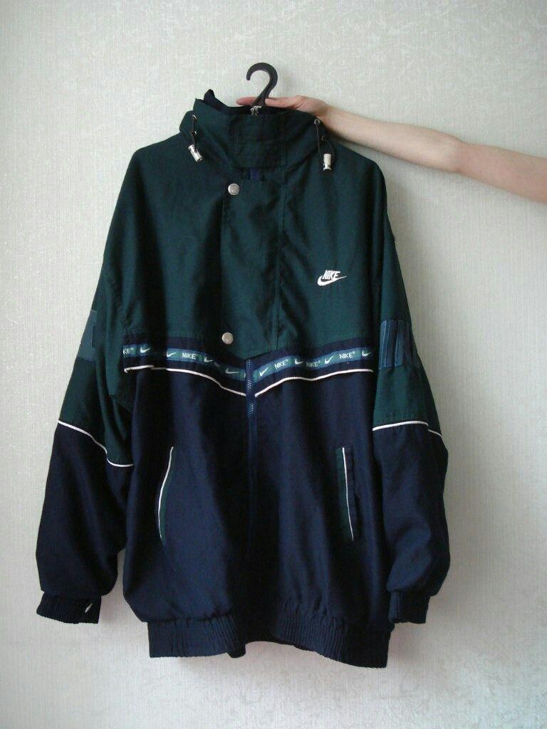 e0a6a70bd Vintage nike windbreaker jacket green navy 90s 80s retro   VINTAGE ...
