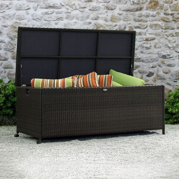 this modern blanket box makes a design statement great for wicker