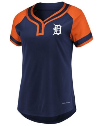 725d405f9 Majestic Women s Detroit Tigers League Diva T-Shirt - Navy Orange L