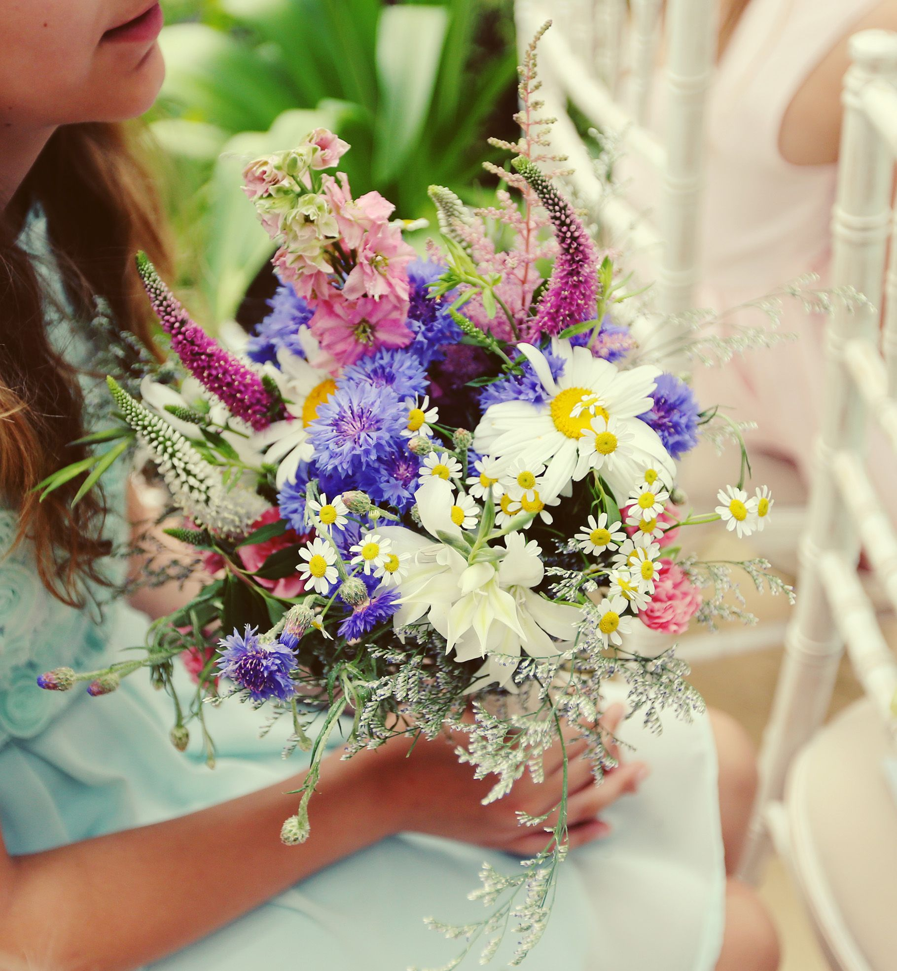 Grow Your Own Wedding Flowers: Bridesmaids Bouquet Of English Cottage Garden Flowers