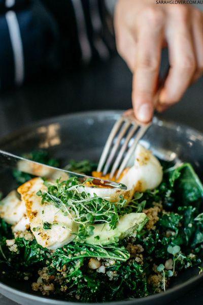 Quinoa And Halloumi Salad Breakfast Bowls Green Breakfast Whole Food Recipes