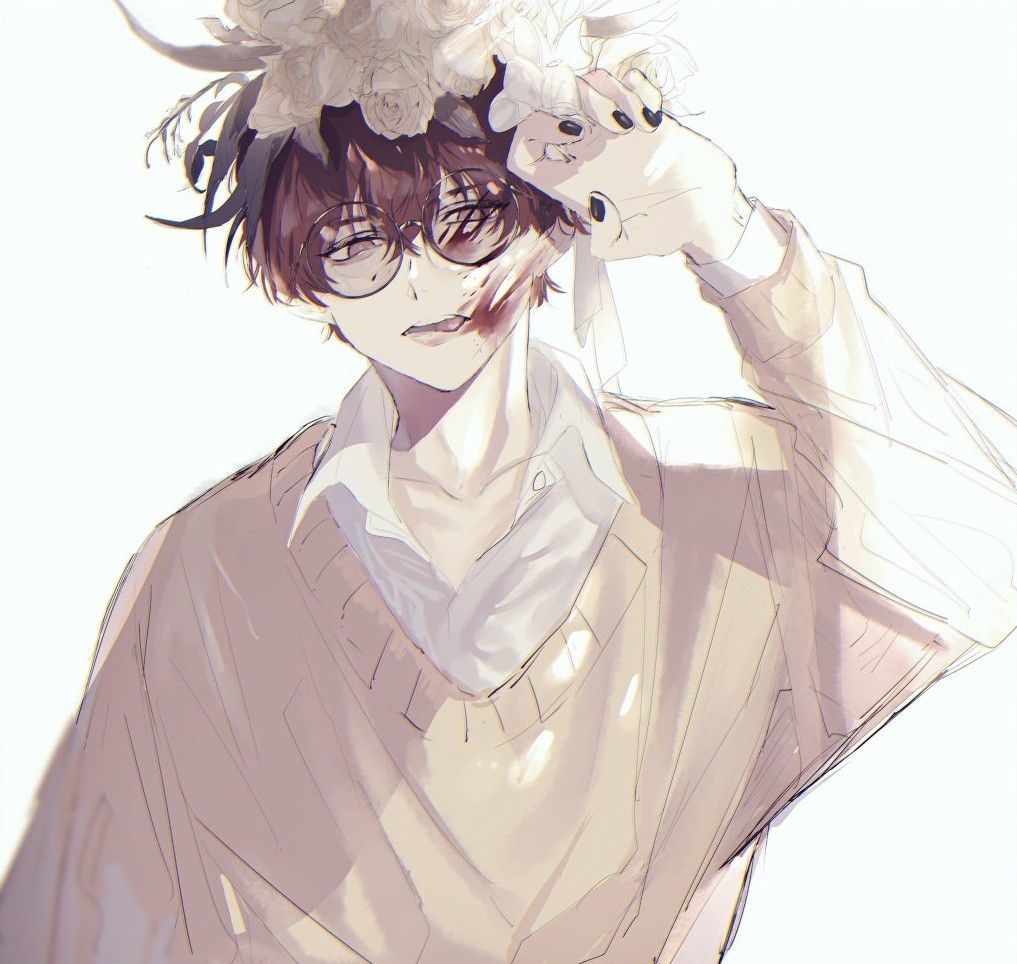 Animeboy Brownhair Glasses Anime Art Girl Cute Anime Boy Boy Art