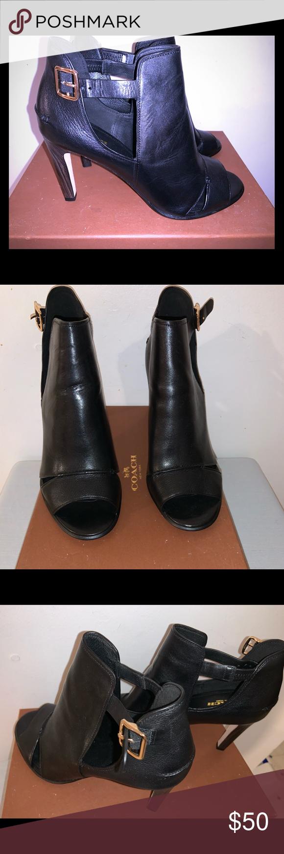 black peep toe booties size 11