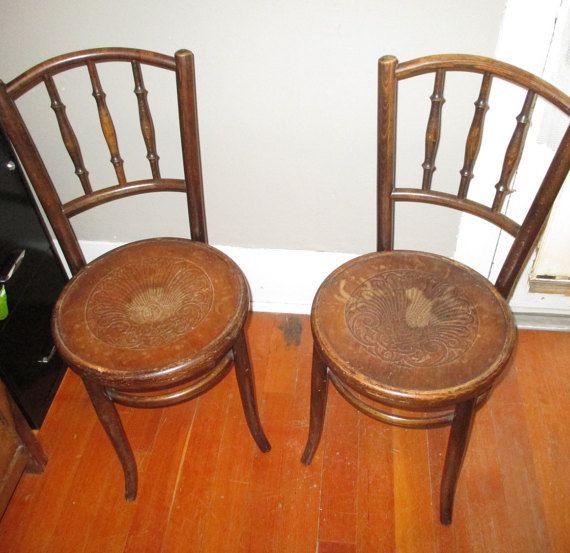 Fischel Antique Bistro Chairs Set (2) Price includes both chairs - Fischel Antique Bistro Chairs Set (2) Price Includes Both Chairs