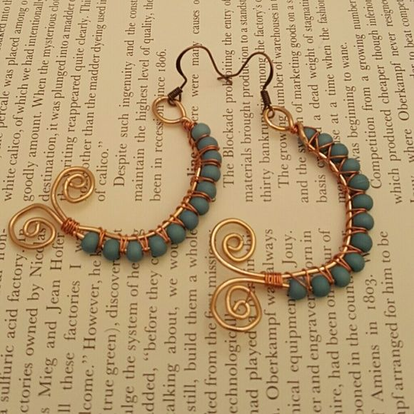 SOLD!! BOHO?UNIQUE ?Real Copper ?Turquoise