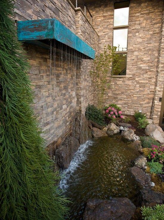 Vertikale Wasserspiele Garten Koi Teich Wasserfall Edelstahl Montage Wand  Haus