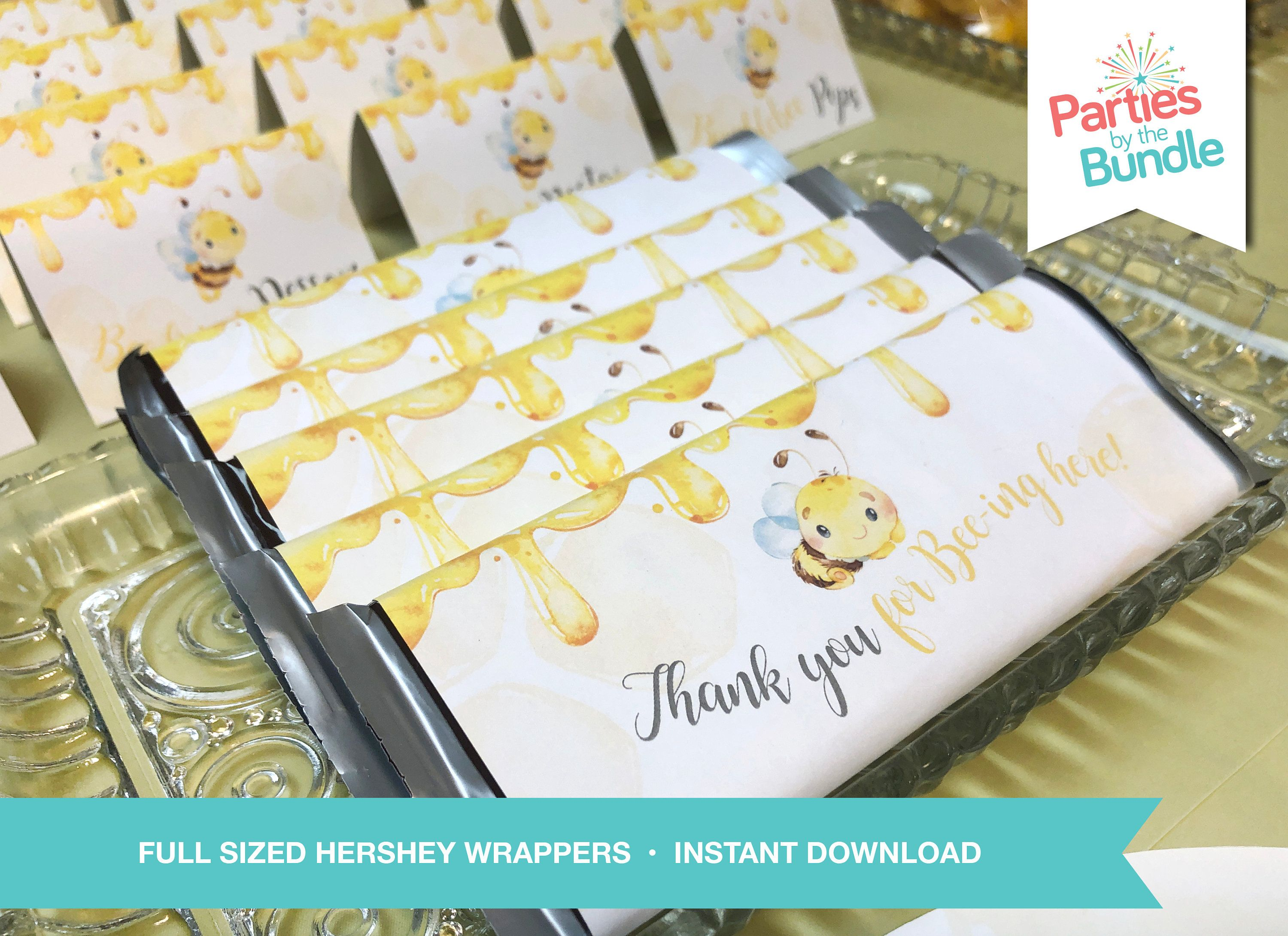 Bee Candy Wrapper Hershey Birthday Party Printable Bee