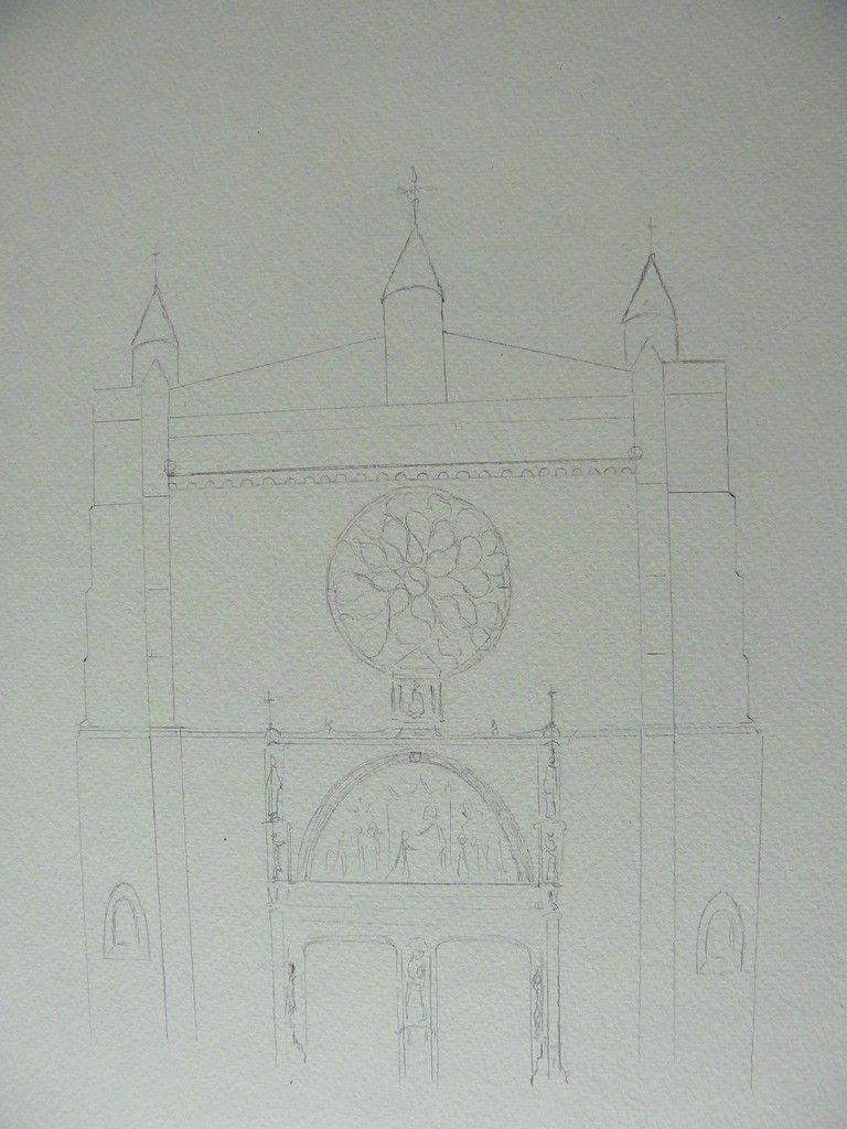 Comme je n'avance décidément pas bien vite en ce moment, je vais vous présenter les différentes étapes de la réalisation d'une peinture. Voici la première partie : le dessin ! C'est un passage essentiel surtout pour des architectures. Mais pour autant,...