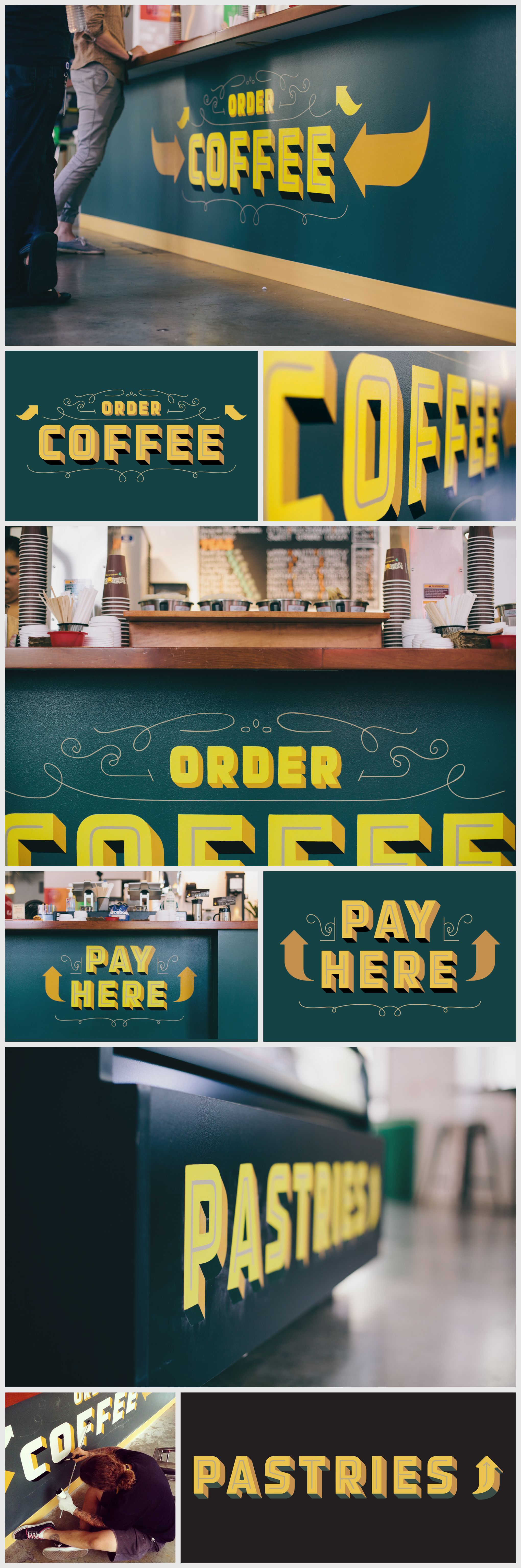 Signage for the Philz Coffee shop on Facebook campus by