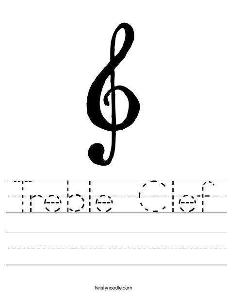 Treble Clef Worksheet - Twisty Noodle   Teaching   Pinterest ...