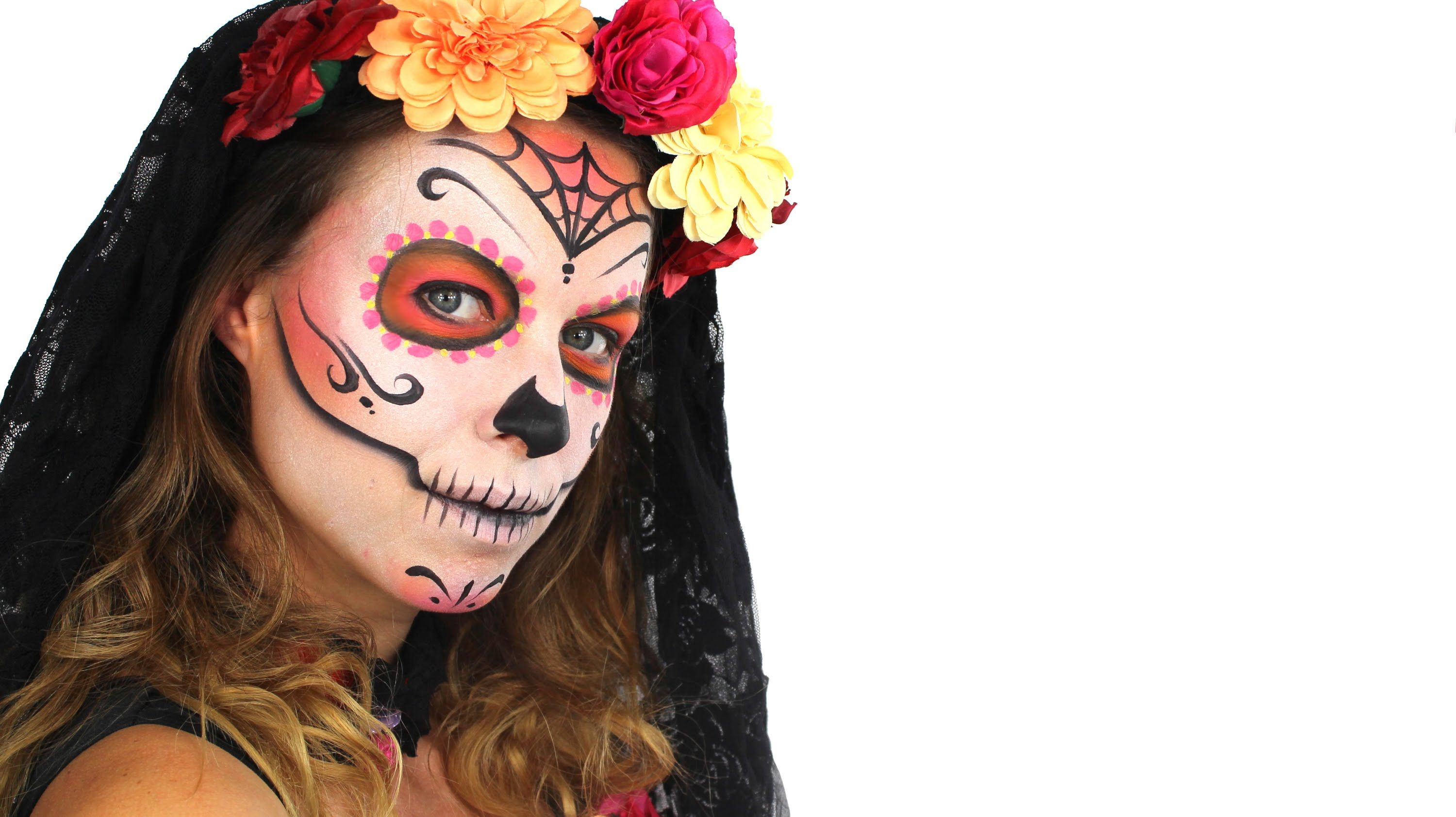 Day of the Dead Makeup Tutorial Halloween Face Paint