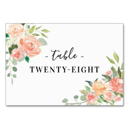 Spring Blush and Peach Watercolor Florals Card Florals Barn