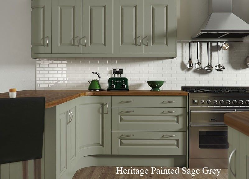 Image Result For Wickes Heritage Sage Green Sage Green Kitchen Green Kitchen Cabinets Kitchen Inspirations
