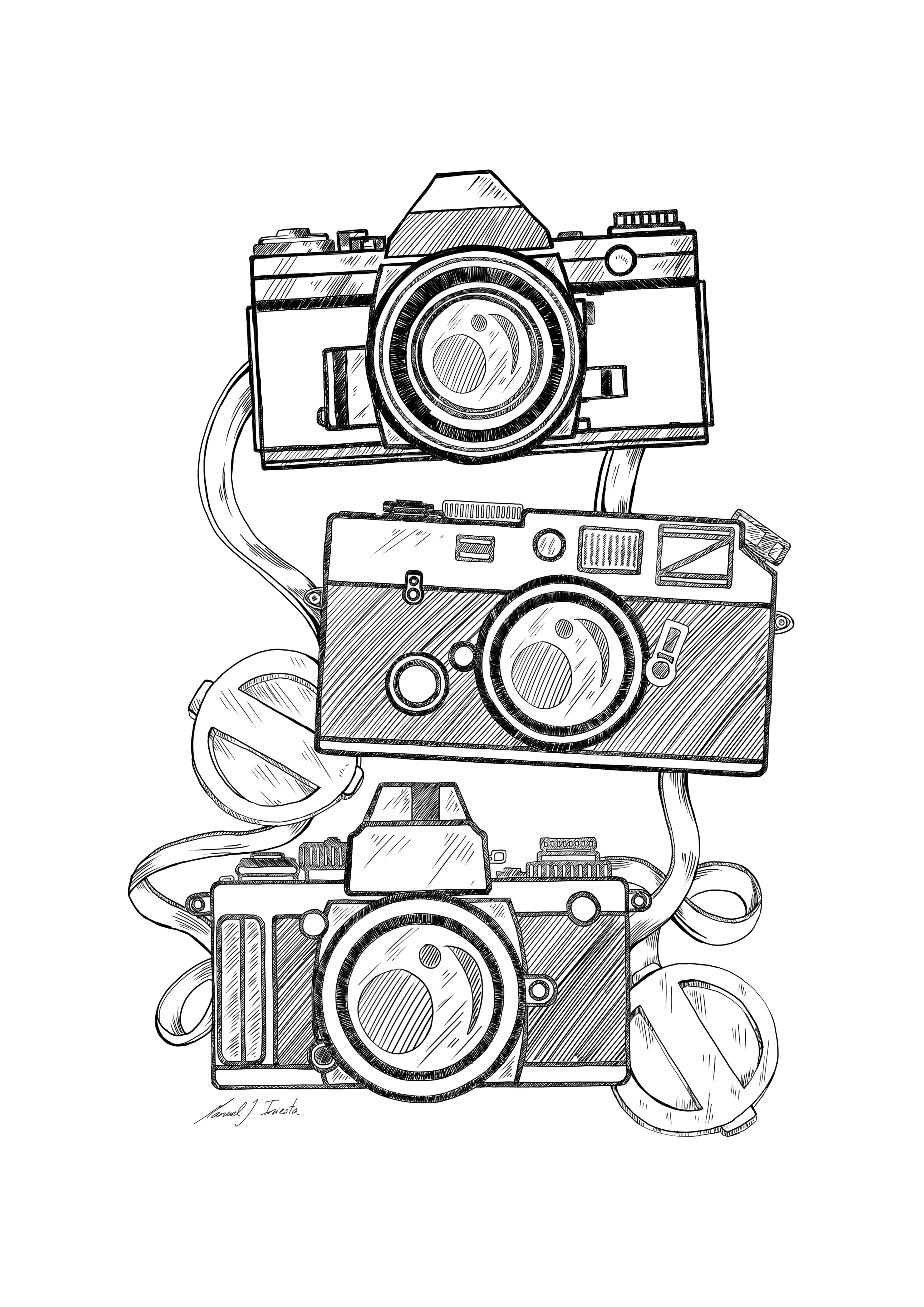 This is a graphic of Epic Canon Camera Drawing
