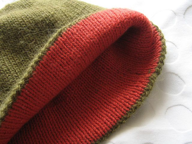 Double Knit Hat Inside Threads And Yarns 3 Pinterest Knit