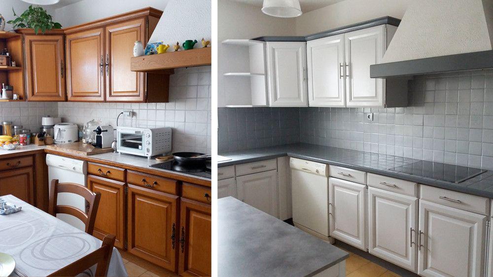 Resultat De Recherche D Images Pour Cuisine Couleur Blanc Casse Repeindre Meuble Cuisine Meuble Cuisine Peinture Meuble Cuisine