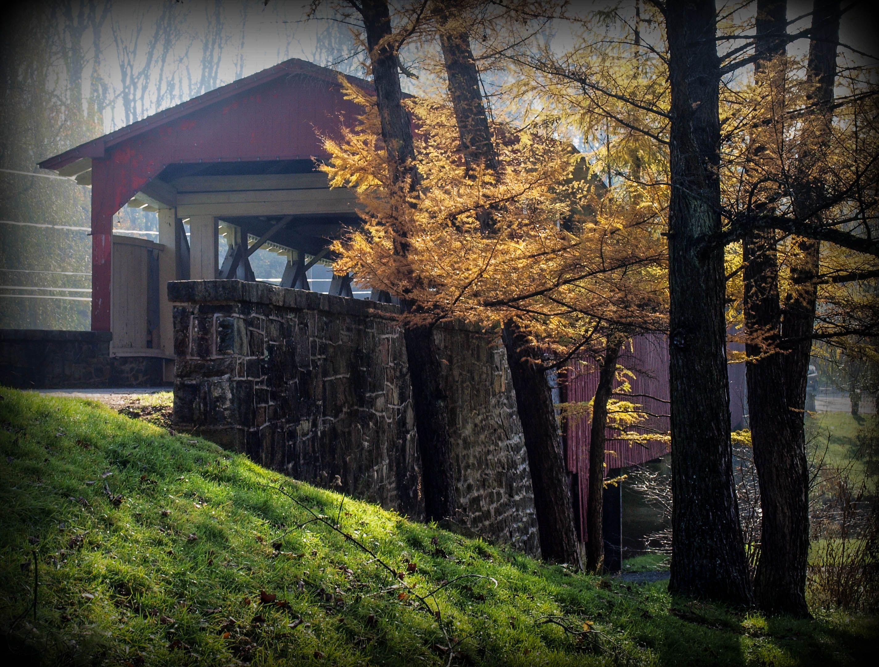 Allentown covered bridge by john delgrosso covered