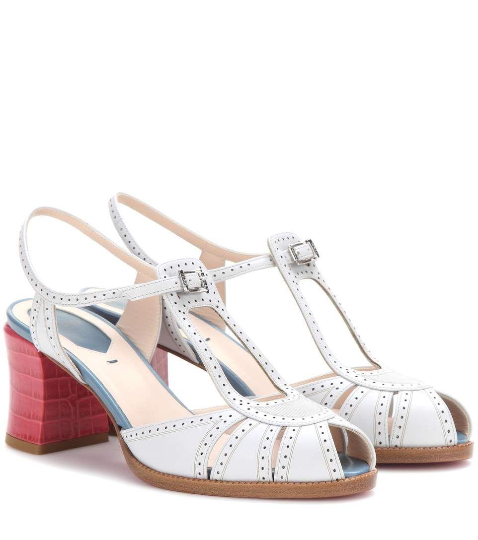 Fendi Chameleon Metallic Leather Block Heel Sandals UoHjLHtkJN