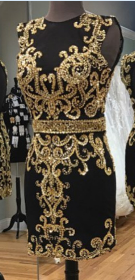 Gold Embroidery Homecoming Dresses,black Homecoming Dress,short Black Prom Dresses