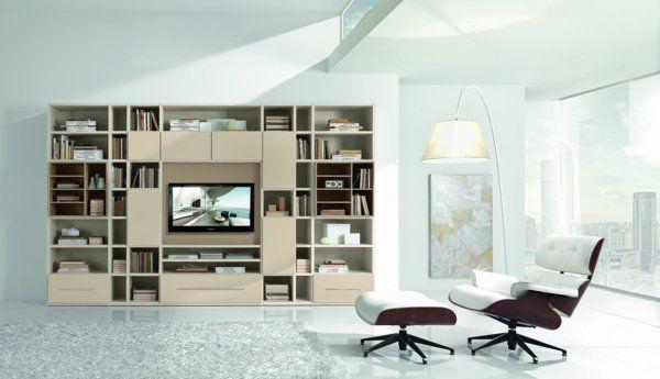 Meubles de salon - 96 idées pour l\u0027intérieur moderne en photos superbes - Meuble Tv Avec Rangement