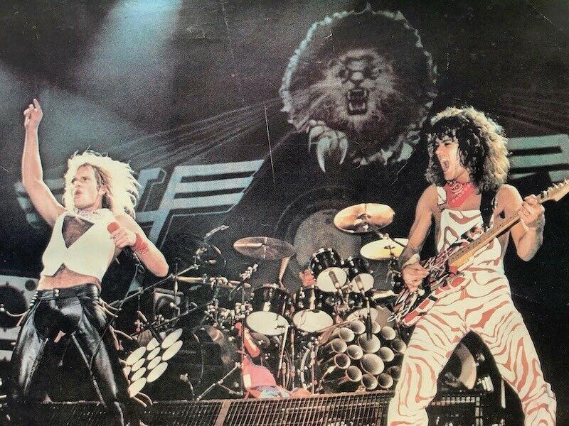 Vtg 1980s Van Halen Diver Down Poster David Lee Roth Eddie Alex Michael Anthony Ebay Van Halen Van Halen Diver Down David Lee Roth