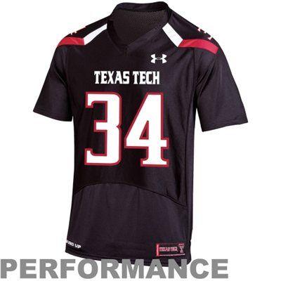 1b80b48318c4 Under Armour Texas Tech Red Raiders  34 Pride Replica Football Jersey -  Black