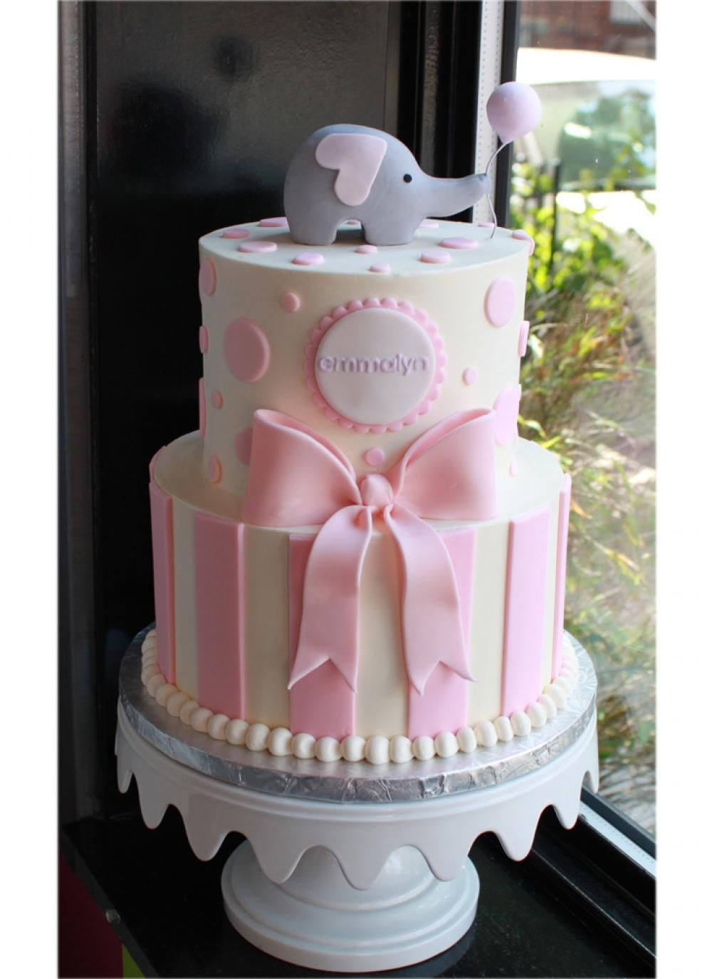 Sweet Elephant Party Cake | Whipped Bakeshop · Elephant Baby Shower ...