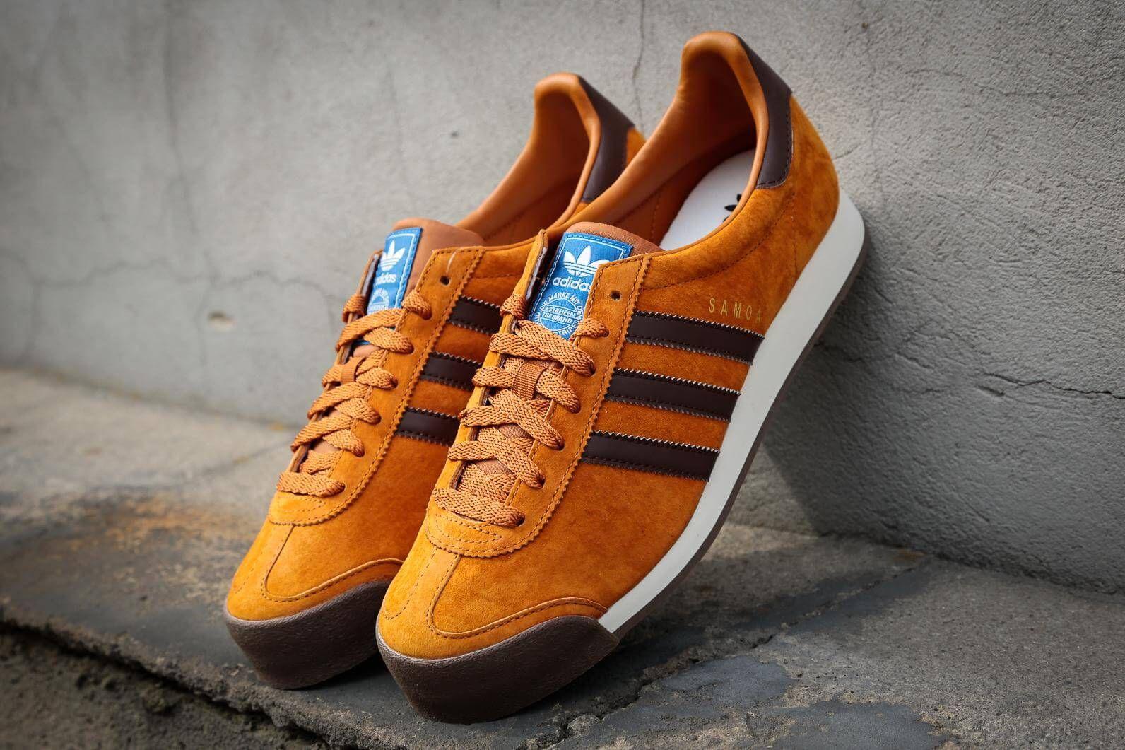 orange adidas samoa