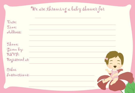 Free Baby Shower Invitations | FREE Printable Baby Shower Templates, Baby  Shower Invitations, Thank