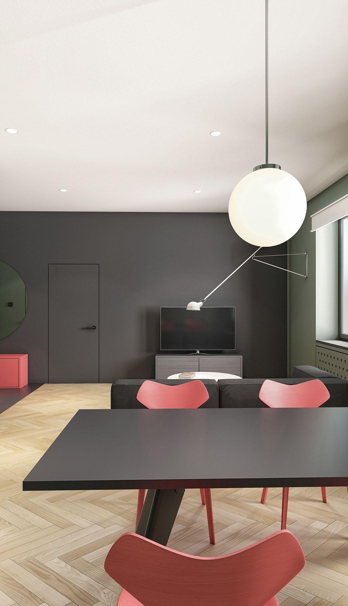 Modern Minimalist Apartment Designs Under 75 Square Meters (808 Square Feet)