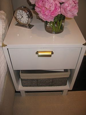 Campaign bedside table