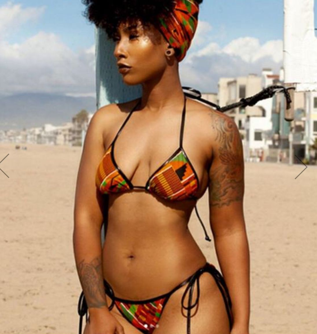 50641b3c72688 Two piece African print bathing suit - UrbanAway.com