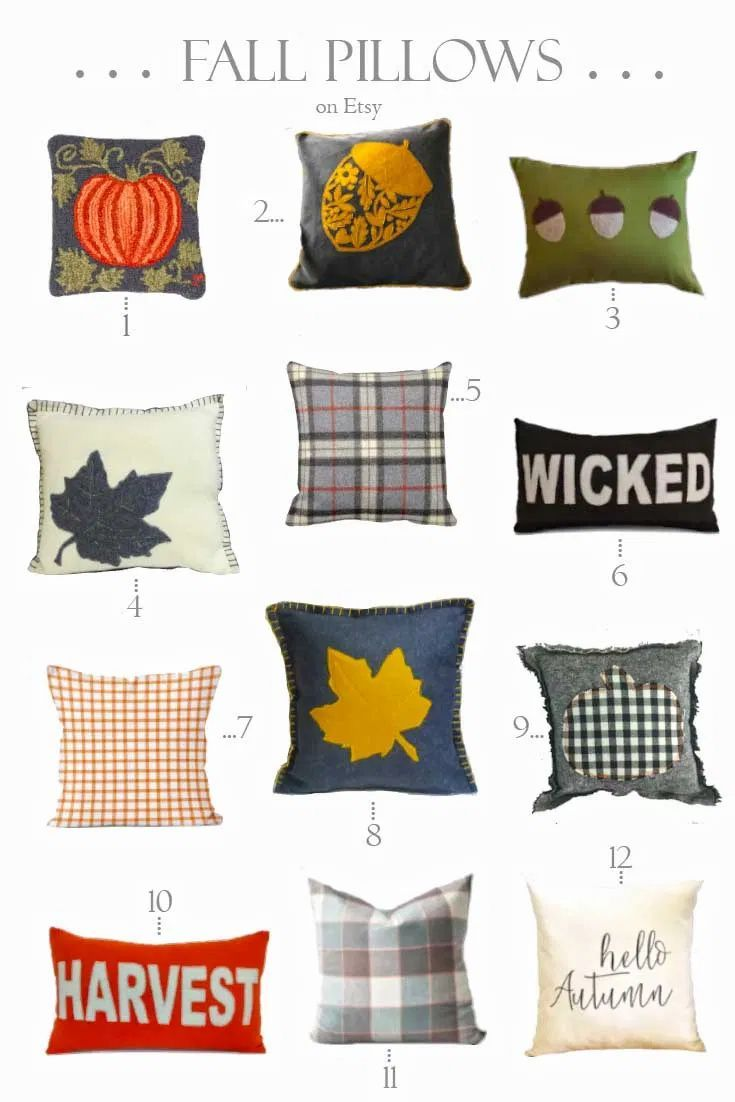 The Best Etsy Fall Pillows You'll Want to See