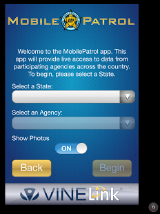 MobilePatrol app for iPhone or Android provides updated information