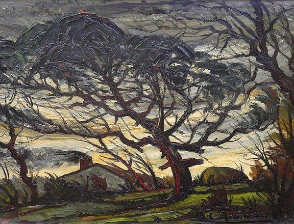 """When the root is deep, there is no reason to fear the wind."" (Bocage Vendéen - André Charles Nauleau, French, 1908-1986)"