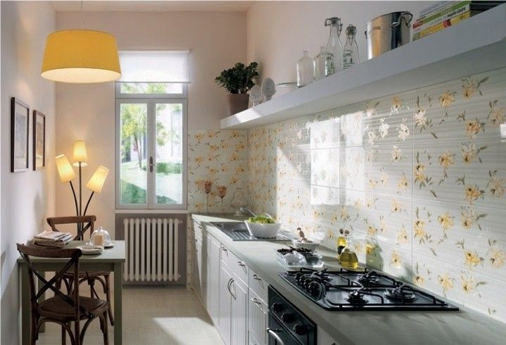 Piastrelle cucina design in white kitchens