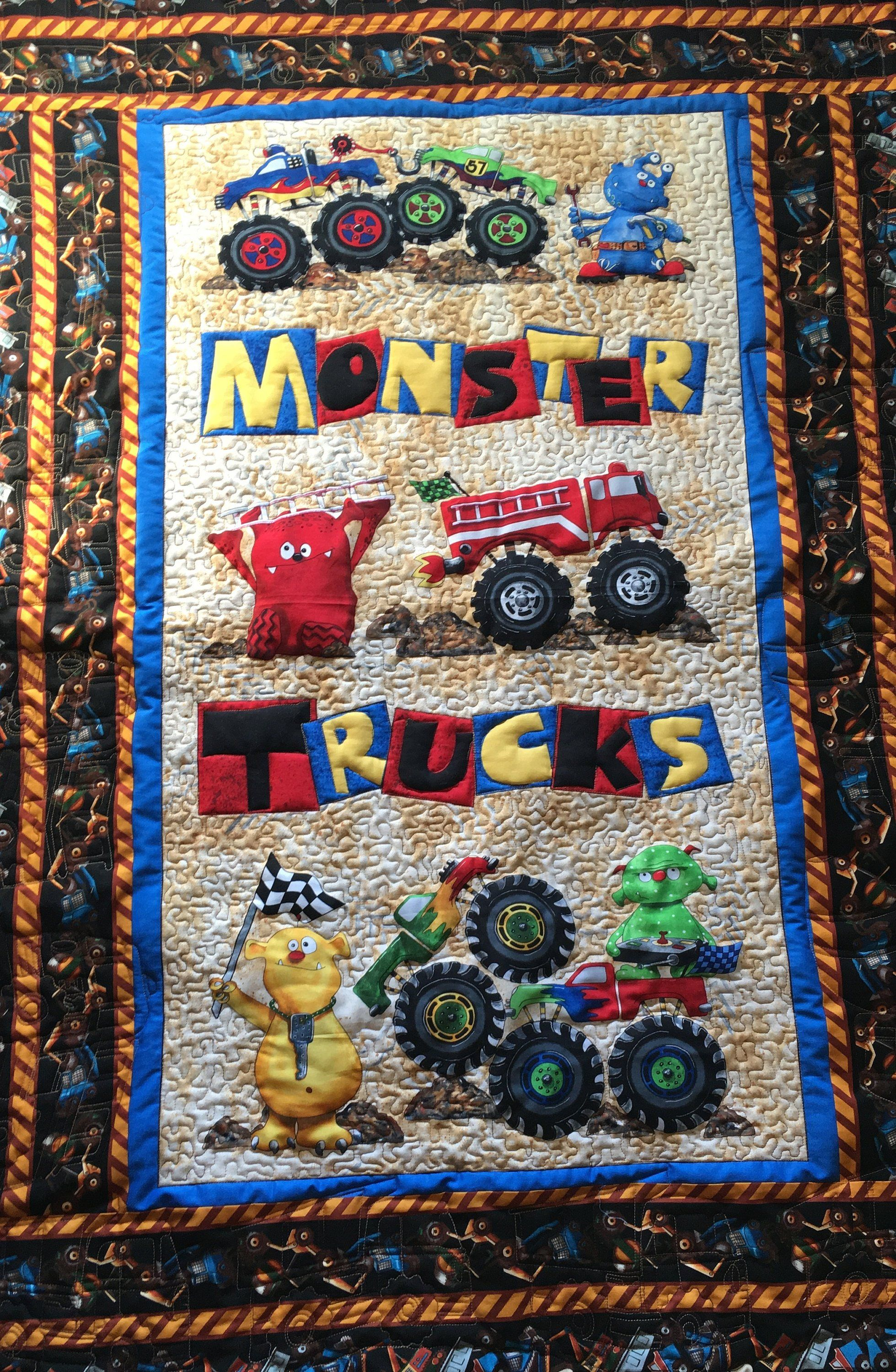 Quilts and wall hangings for boys visit