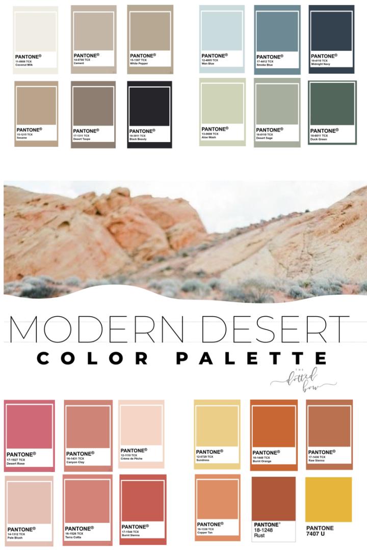Modern Desert Aesthetic Color Palette In 2020 Desert Aesthetic