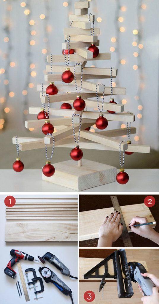 Scandinavian Wooden Tabletop Christmas Tree Diy Christmas Table Christmas Table Decorations Diy Christmas Table Centerpieces