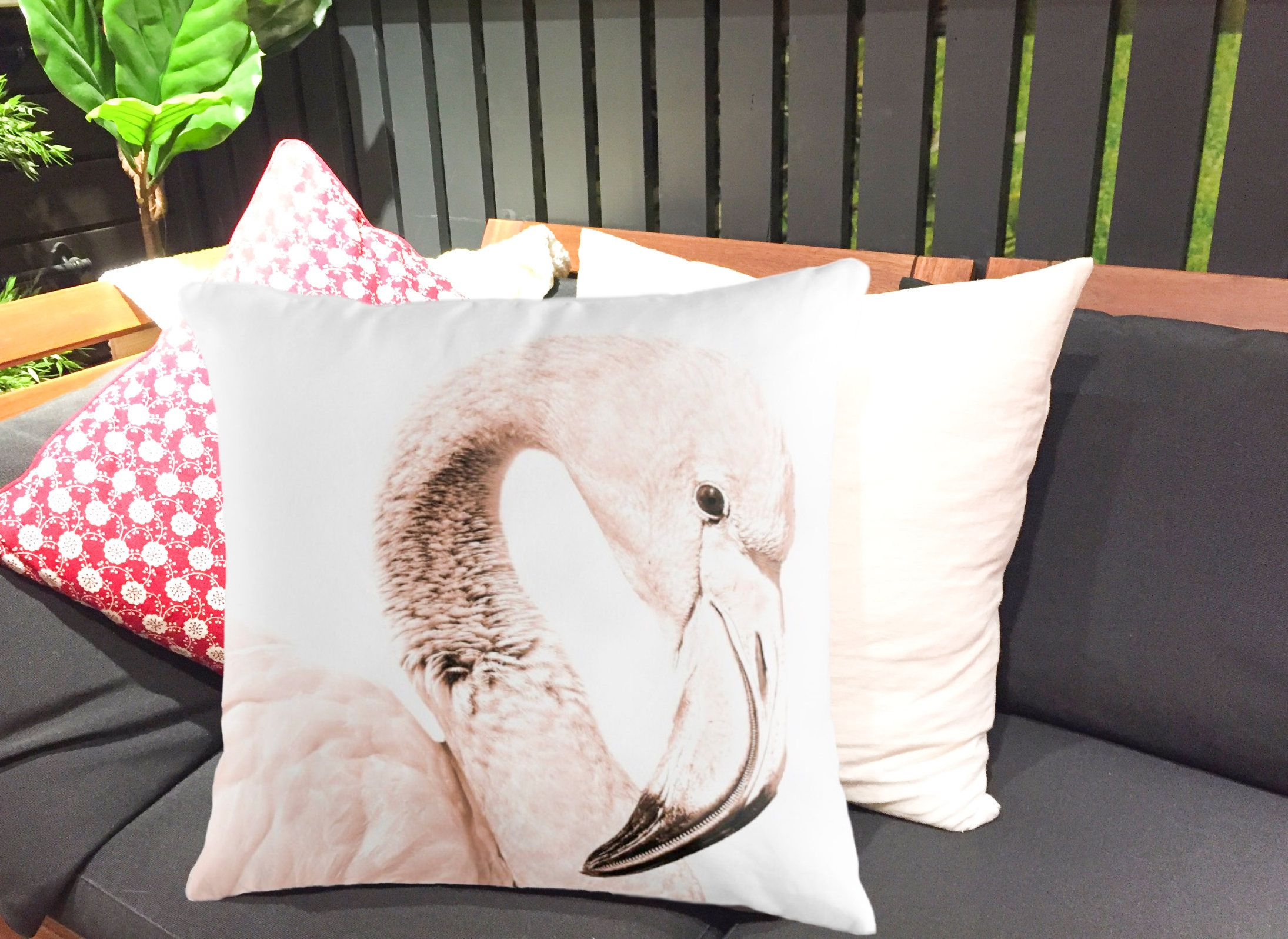 Flamingo cushion cover aud throw pillow cover cm x cm