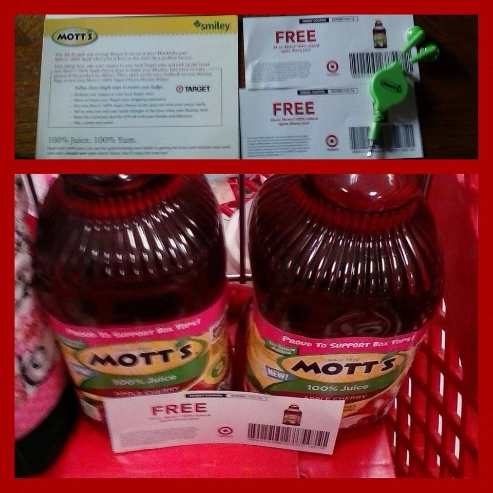 OMG this is absolutely sweet and delicious! My children love the taste and want more! I got both of these bottles for free in my smiley360 mission after redeeming my coupons. I also love the little ear phones that came in the kit they are super cute. #mottsapplecherry #freesample