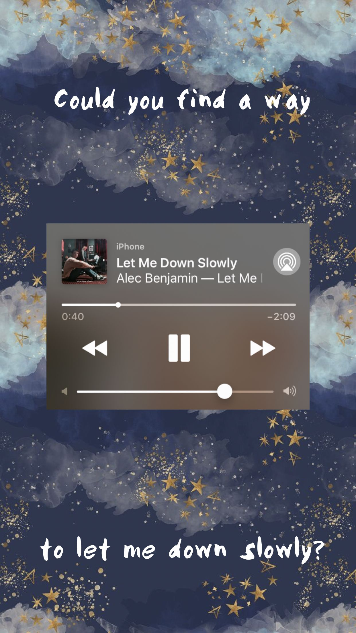 Let Me Down Slowly Alec Benjamin Song Lyrics Wallpaper Music Wallpaper Let Me Down