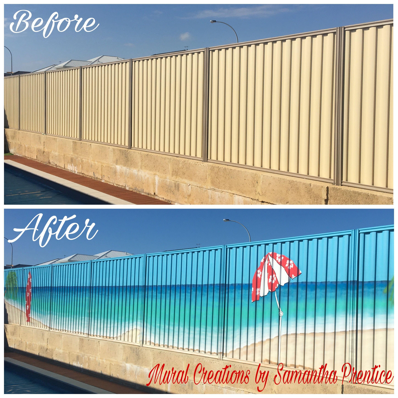 Beach Fence Murals | Mural Creations | Paint A Fence | Pinterest ...