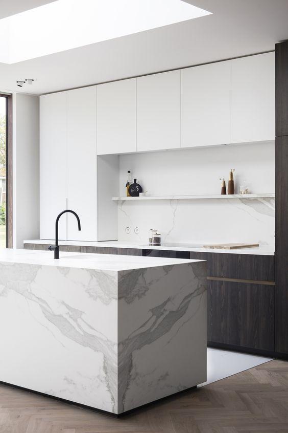 Cuisine Kitchen Cocina Interieur Marbre Interior Pierre Blanc