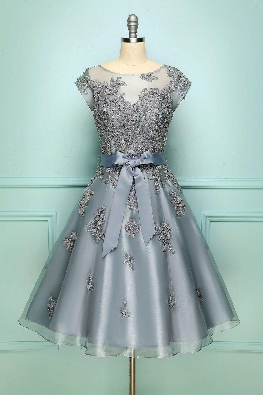 Grey Vintage Short Prom Dress In 2021 Prom Dresses Vintage Vintage Homecoming Dresses Short Prom Dress [ 1500 x 1000 Pixel ]