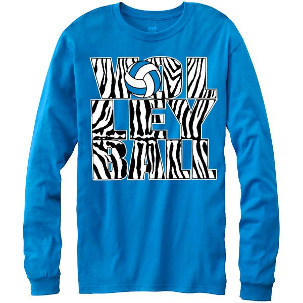Zebra Volleyball Long Sleeve T-shirt. This would match perfectly with our Zebra Volleyball Yoga Pants! $19.99