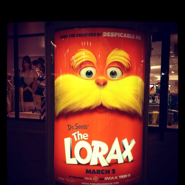 Cracks me up every time I see The Lorax! LOL look at that