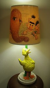 Vintage Big Bird Lamp Sesame Street Original Shade 1970